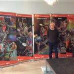 De fem roll-ups med badmintonmotiver er blevet til på initiativ af Ole Jacobsen, formand for Badmintonmuseet.