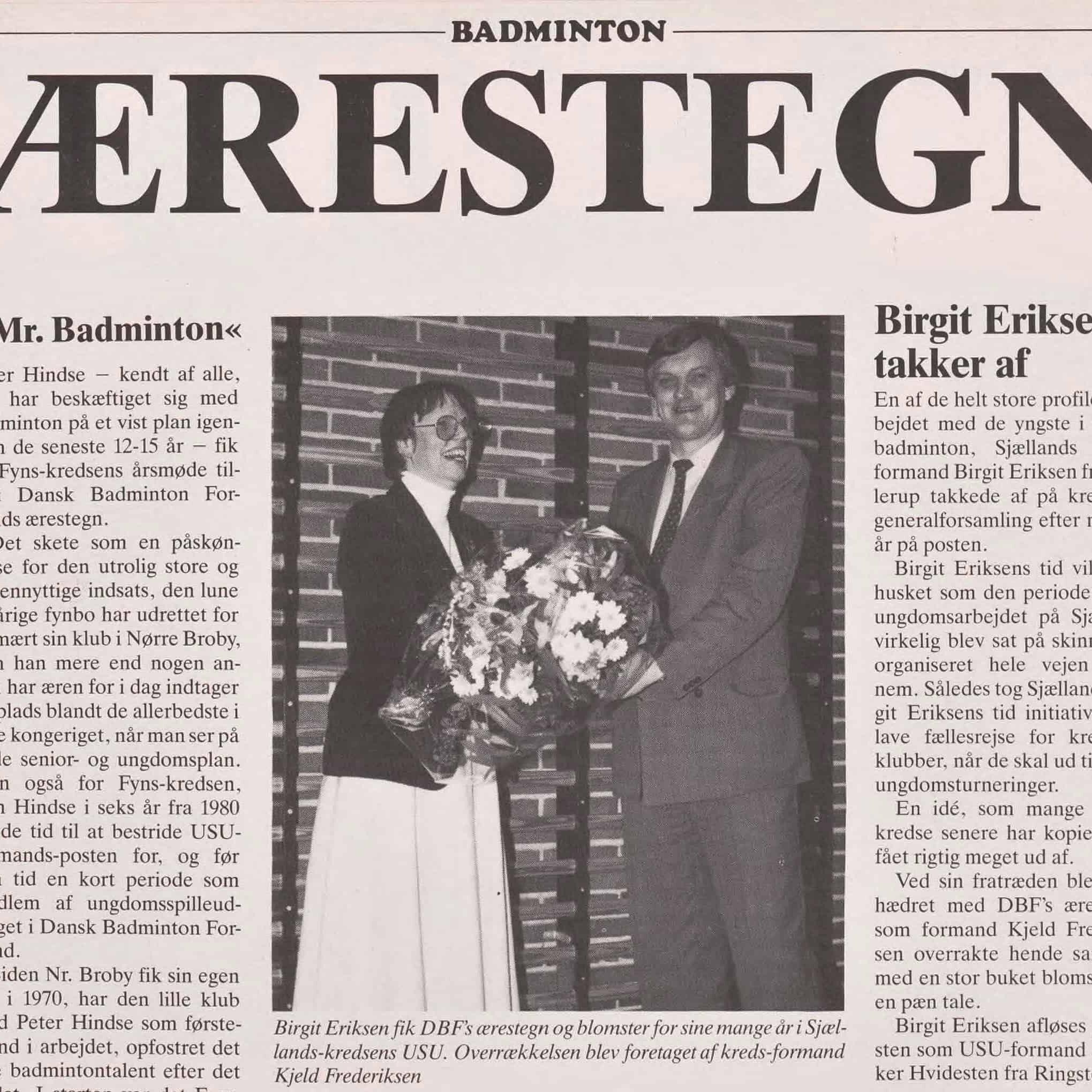 Ærestegn Fra Badmintonbladet Til Forsiden Af Webben